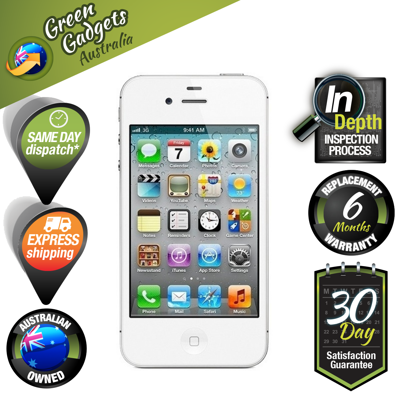 apple iphone 4s 8gb white unlocked smartphone good. Black Bedroom Furniture Sets. Home Design Ideas