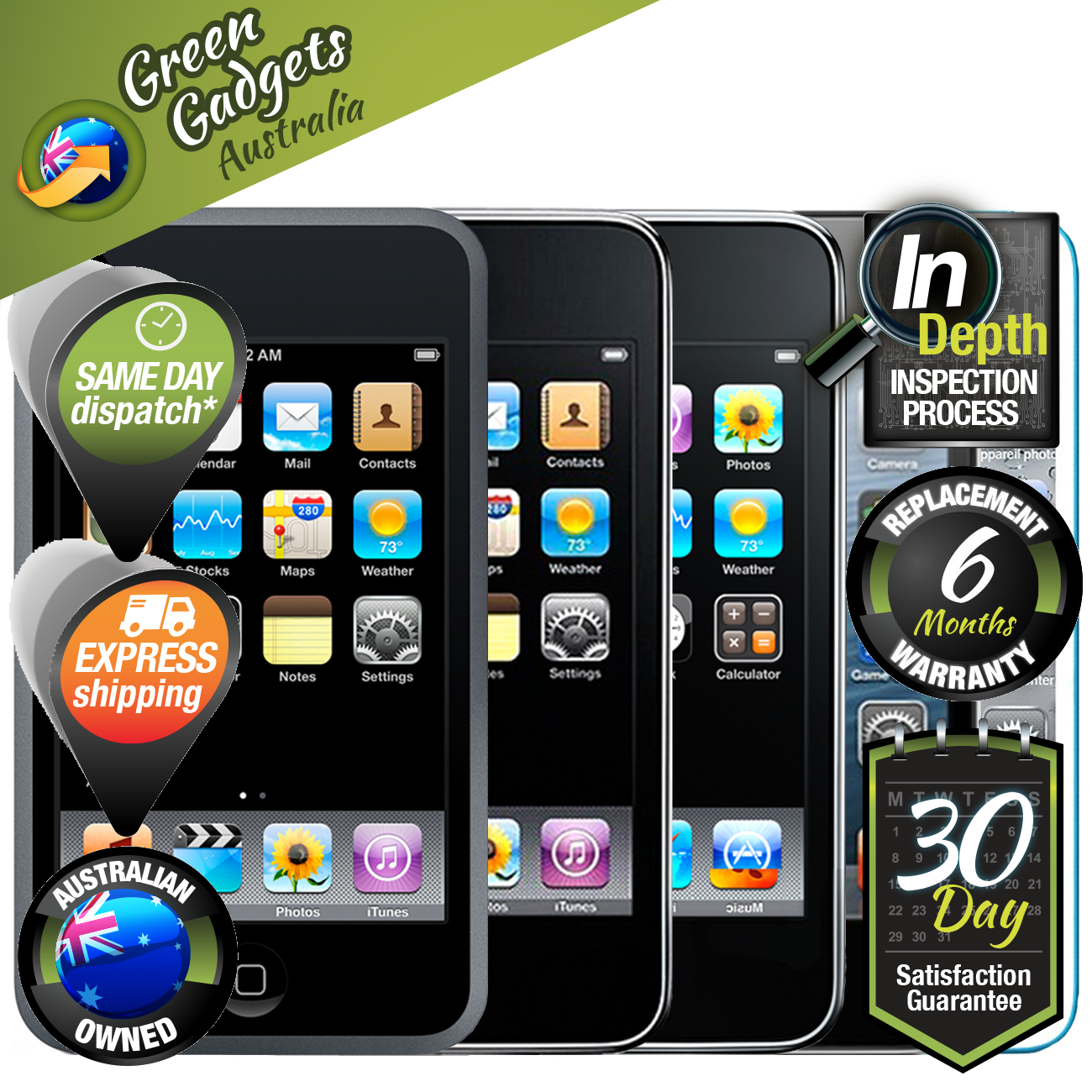 apple ipod nano touch classic 1st 2nd 3rd 4th 5th 6th 7th. Black Bedroom Furniture Sets. Home Design Ideas